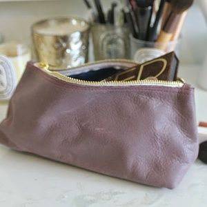 NWT American Apparel leather makeup bag